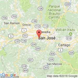 Localización de Santa Ana en San José