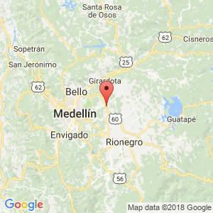 Localización de Guarne en Antioquia