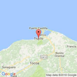 Localización de Trujillo en Colón