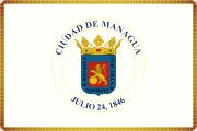 Bandera de Managua, Managua