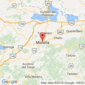 Localización de Morelia en Michoacán de Ocampo