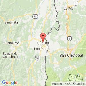 Localización de Cúcuta en Norte de Santander