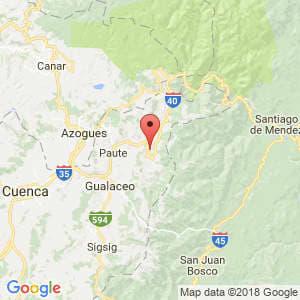 Localización de El Pan en Azuay