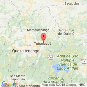 Localización de Totonicapán en Totonicapán