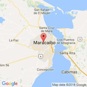 Localización de Maracaibo en Zulia