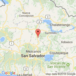Localización de Guazapa en San Salvador
