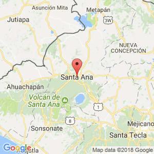 Localización de Santa Ana en Santa Ana