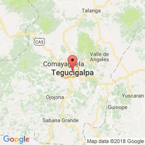 Localización de Tegucigalpa en Francisco Morazán