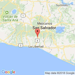 Localización de Zaragoza en La Libertad
