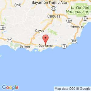 Localización de Guayama en Guayama