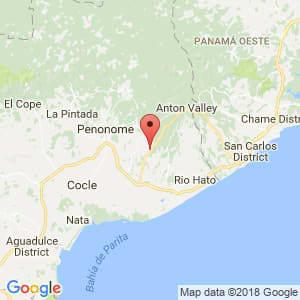 Localización de Antón en Coclé