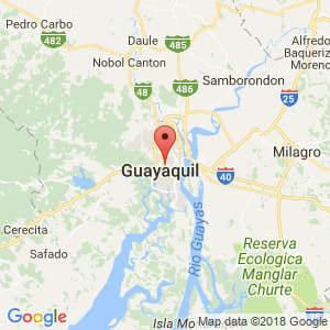 Localización de Guayaquil en Guayas