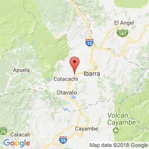 Localización de Atuntaqui en Imbabura