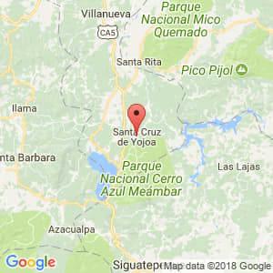 Localización de Santa Cruz de Yojoa en Cortés