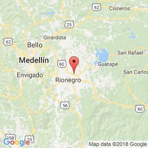 Localización de Marinilla en Antioquia