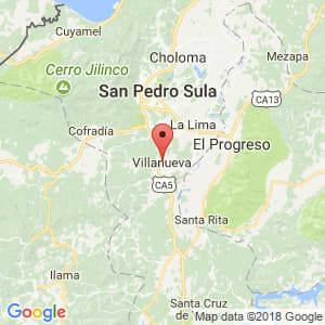 Localización de Villanueva en Cortés
