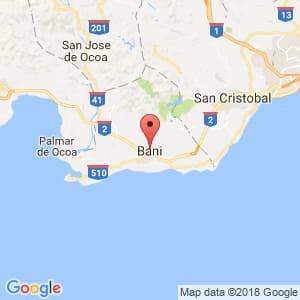 Localización de Baní en Peravia