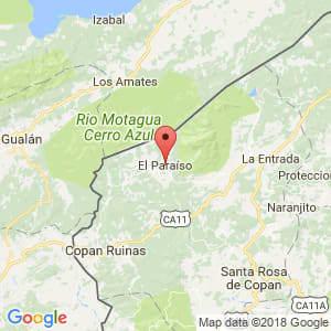 Localización de El Paraíso en Copán