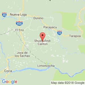 Localización de Shushufindi en Sucumbíos
