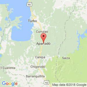 Localización de Apartadó en Antioquia
