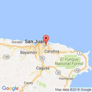 Localización de Isla Verde en Carolina