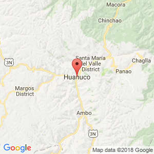 Localización de Huánuco en Huánuco