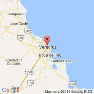 Localización de Veracruz en Veracruz de Ignacio de la Llave