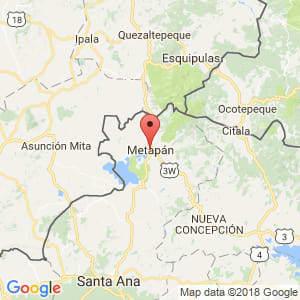 Localización de Metapán en Santa Ana