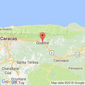 Localización de Guatire en Miranda