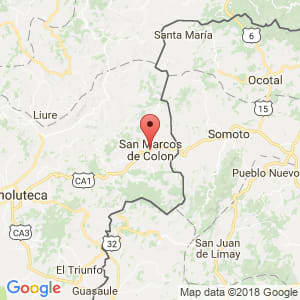 Localización de San Marcos de Colón en Choluteca