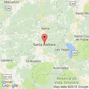 Localización de Santa Bárbara en Santa Bárbara