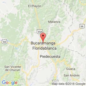 Localización de Bucaramanga en Santander