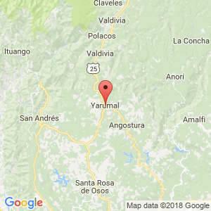 Localización de Yarumal en Antioquia
