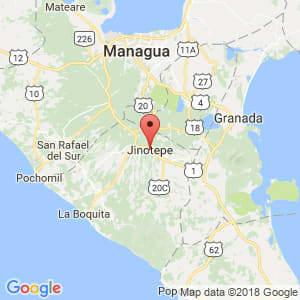Localización de Jinotepe en Carazo