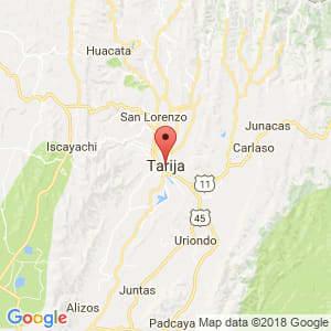 Localización de Tarija en Tarija