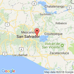 Localización de Ilopango en San Salvador