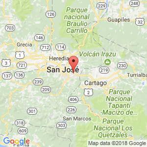 Localización de Curridabat en San José
