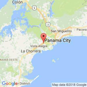 Localización de Juan Demóstenes Arosemena en Panamá Oeste