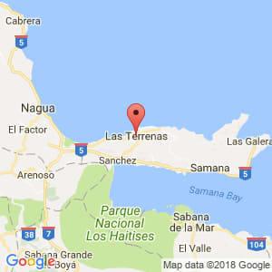 Localización de Las Terrenas en Samaná