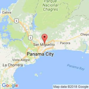 Localización de San Miguelito en Panamá