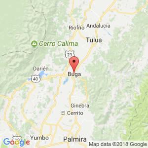 Localización de Buga en Valle del Cauca