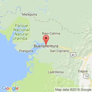 Localización de Buenaventura en Valle del Cauca