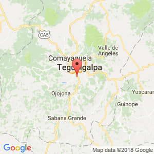 Localización de Germania en Francisco Morazán