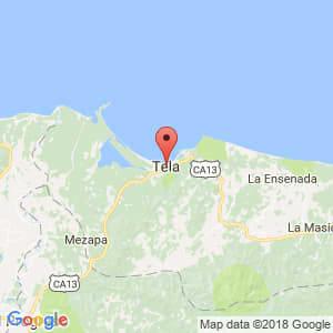 Localización de Tela en Atlántida