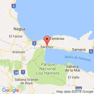 Localización de Sánchez en Samaná