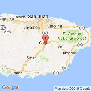 Localización de Caguas en Humacao