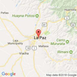 Localización de Murillo en La Paz