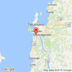 Localización de San Pedro de la Paz en Biobío