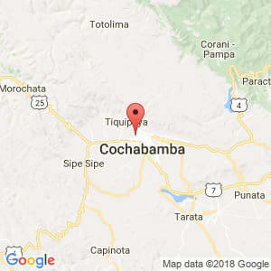 Localización de Sarcobamba en Cochabamba