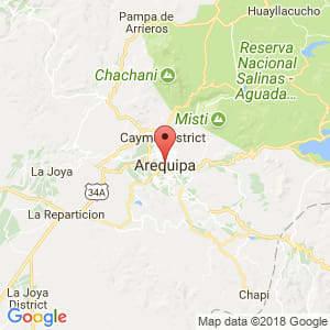 Localización de Arequipa en Arequipa